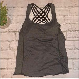 Lululemon open back tank with crisscross bra 4